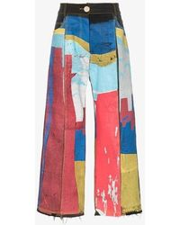 BETHANY WILLIAMS Painted Patch-work Straight-leg Jeans - Multicolour