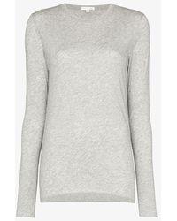 Skin Ultra Thin Long Sleeve Pima Cotton Crew Tee - Grey