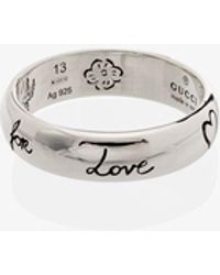 """Gucci """"blind For Love"""" Ring - Metallic"""