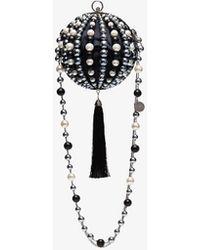 a9d9e89d6f19 Rosantica - Billie Bead-embellished Shoulder Bag - Lyst
