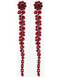 Simone Rocha Drop Earrings - Red