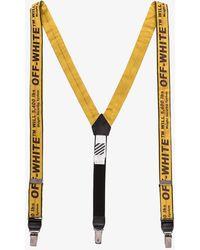 Off-White c/o Virgil Abloh - Yellow Industrial Logo Braces - Lyst