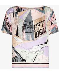 Emilio Pucci - Battistero-print Silk Top - Lyst