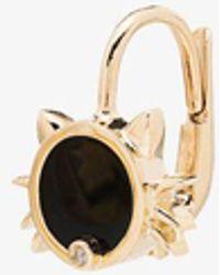 Yvonne Léon 9k Cat Diamond Earring - Metallic