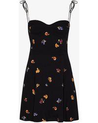 Reformation Saskia Fruit Print Dress - Black
