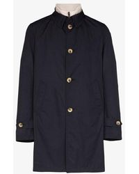 Canali Detachable Gilet Button-up Coat - Blue