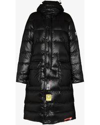 R13 X Brumal Hooded Down Coat - Black