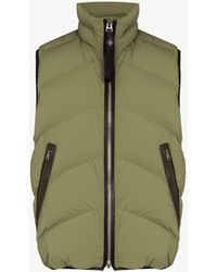 Tom Ford Zip-up Padded Gilet - Green