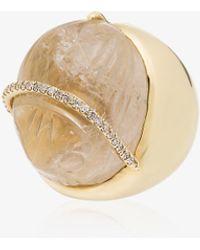 Kimberly Mcdonald 18kt Yellow Gold Diamond Quartz Ring - Metallic