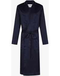 CDLP Home Robe Long Dressing Gown - Blue