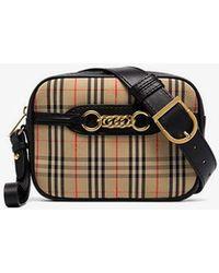 Burberry - Antique Garnet Link Fabric Leather Belt Bag - Lyst