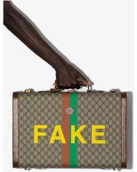 Gucci Multicoloured Fake/not GG Supreme Suitcase - Multicolor