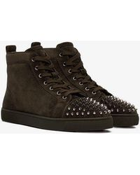 81e56fed933a Christian Louboutin Boat Stud Embellished Leather Slip On Trainers ...