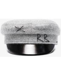 Ruslan Baginskiy Grey Wool Baker Boy Hat - Gray