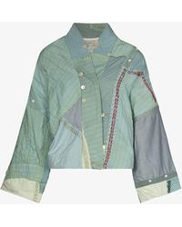 By Walid Cassie Patchwork Jacket - Green