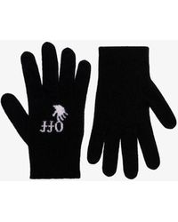 Off-White c/o Virgil Abloh Logo Hand Wool Gloves - Black
