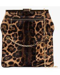 f413a4dbae33 Bienen-Davis - Brown Pm Leopard Print Ponyskin Clutch Bag - Lyst