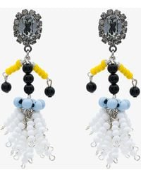 Marni - Beaded Clip-on Earrings - Lyst