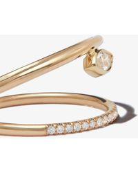Zoe Chicco 14k Yellow Double Band Diamond Ring - Metallic