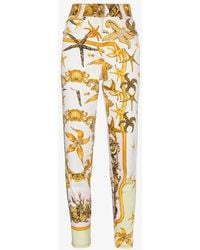 Versace High Rise Jeans With Marine Print - Multicolor