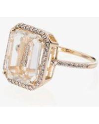 Mateo 14kt Gold L Initial Ring - Metallic