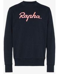 Rapha Logo Printed Sweatshirt - Blue