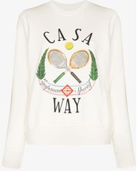 CASABLANCA Casaway Tennis Club Sweatshirt - White