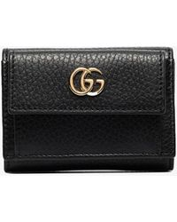 Gucci Black Marmont Textured Leather Wallet