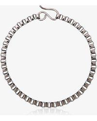Jelena Behrend 24kt Black Gold Baltic Cube Link Necklace