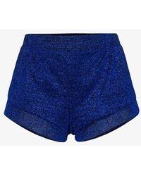 Oséree Lumière High Waist Shorts - Blue