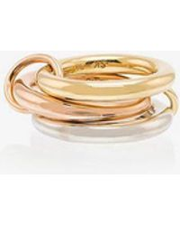 Spinelli Kilcollin - 18kt Gold 3 Link Ring - Lyst