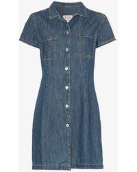Eve Denim Carlotta Button-up Denim Shirt Dress - Blue
