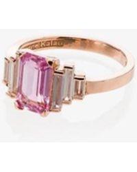 Suzanne Kalan 18kt Rose Gold Sapphire Diamond Ring - Multicolour