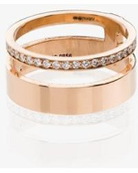Repossi 18k Berbere Module Diamond Double Ring - Metallic