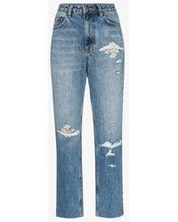 Ksubi Blue Chlo Wasted Straight Leg Jeans