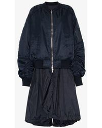 Juun.J Long Bomber Jacket - Blue