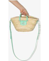 Jimmy Choo Neutral Macy Mini Raffia Tote Bag - Multicolour