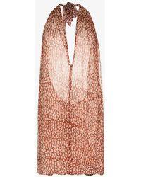 Cloe Cassandro Beniras Halterneck Mini Dress - Orange
