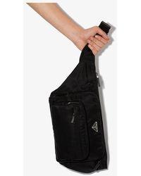 Prada Logo Plaque Belt Bag - Black