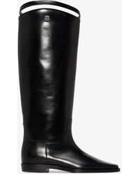 Totême Leather Riding Boots - Black
