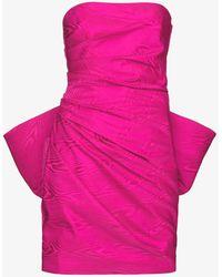 Solace London Posie Ruffled Mini Dress - Pink