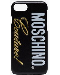 Moschino - Black Couture Logo Iphone 8 Case - Lyst