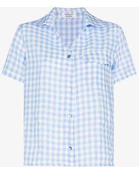 Frankie's Bikinis Lou Gingham Shirt - Blue