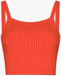 Live The Process Ribbed Knit Crop Top - Orange