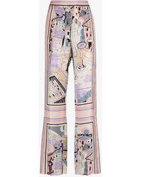 Emilio Pucci - Battistero Print Silk Trousers - Lyst