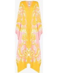 Emilio Pucci Albizia Piazzto Print Kaftan Dress - Yellow