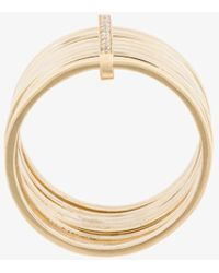 Lizzie Mandler | 18kt Gold '7 Day' Ring With Diamonds | Lyst