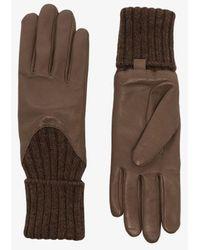 Agnelle Brown Cecilia Leather Gloves