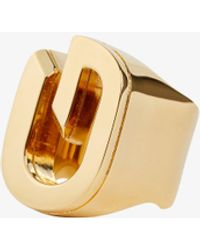 Givenchy Plated G Link Ring - Metallic