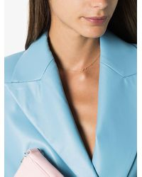 Lizzie Mandler 18k Mini Arrow Diamond Necklace - Blue